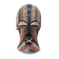 """Songye, """"Máscara Kifwebe"""", R. D. Congo, Séc. XX, Madeira, pigmentos, 17x33x11cm"""
