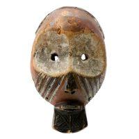 """Teke, """"Máscara"""", R. D. Congo, Século XX, Madeira, pigmentos, 16x27x9cm"""