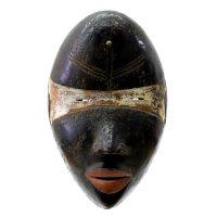 """Dan, """"Máscara"""", R. D. Congo ou Libéria, Século XX, Madeira, pigmentos, 19x28x13cm"""