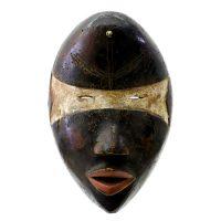 """Dan, """"Máscara"""", R. D. Congo ou Libéria, Século XX, Madeira, pigmentos, 19x28x14cm"""