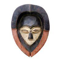 "Kwele, ""Máscara"", Gabão, Séc. XX, Madeira pintada, 19x27x13cm"