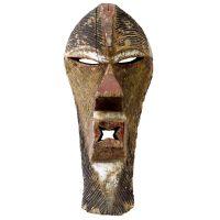 """Songye, """"Máscara Kifwebe"""", R.D. Congo, século XX, madeira, pigmentos, 22x48x16cm"""