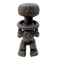 """Tikar, """"Figura Pigmeu"""", Camarões, Séc. XX, Madeira, 17x43x17cm"""