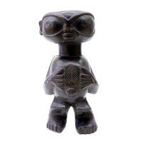 """Tikar, """"Figura Pigmeu"""", Camarões, Séc. XX, Madeira, 15x34x13cm"""