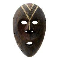 """Kumu, """"Máscara"""", R.D. Congo, século XX, madeira, pigmentos, 20x31x7cm"""