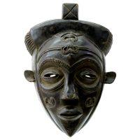 "Lulua, ""Máscara"", R.D. Congo, século XX, madeira, 28x40x20cm"
