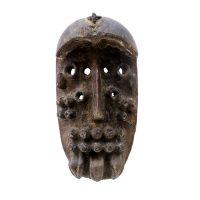 "Grebo, ""Máscara Kru"", Libéria, Séc. XX, Madeira, 10x20x8cm"