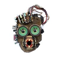 """I Am Back (Máscara)"", 2019, madeira, elementos eléctricos e electrónicos, 33x44x14cm [INDISPONÍVEL / UNAVAILABLE]"
