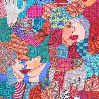 """""""Arte de Sofá 29"""", 2019, caneta sobre papel, 15x21cm"""