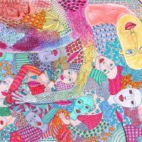 """Arte de Sofá 23"", 2019, caneta sobre papel, 32x24cm [INDISPONÍVEL / UNAVAILABLE]"