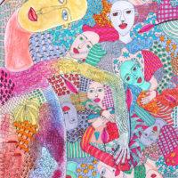 """Arte de Sofá 23"", 2019, caneta sobre papel, 24x32cm [INDISPONÍVEL / UNAVAILABLE]"