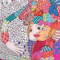 """""""Arte de Sofá 26"""", 2019, caneta sobre papel, 15x21cm"""
