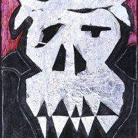 """""""Chocolate Branco"""", 2004, Caneta de feltro e folha de alumínio sobre papel, 24x32cm"""
