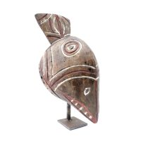 "Bwa, ""Helmet Bwa"", Burquina Faso, Séc. XX, Madeira pintada, 15x36x13cm"