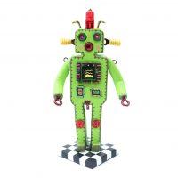 """""""Robô Extraterrestre — Boemeco nº167"""", 2019, pasta de argila pintada, objetos vários, 9x18x8cm [INDISPONÍVEL/UNAVAILABLE]"""