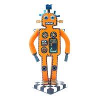 """""""Robôa Extraterrestre — Boemeco nº168"""", 2019, pasta de argila pintada, objetos vários, 9x18x8cm [INDISPONÍVEL/UNAVAILABLE]"""