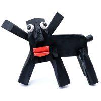 """""""Cão Pasmado"""", madeira pintada, pregos, tampas de plástico, borracha, 42x31x20cm [INDISPONÍVEL / UNAVAILABLE]"""