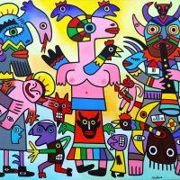 """Carnaval"", 2019, acrílico sobre tela, 100x81cm"