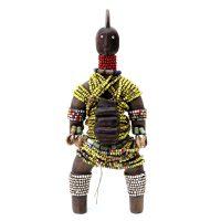 "Namji, ""Doll"", Camarões, século XX, madeira, conchas, missangas, corda"