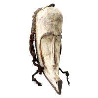 """Fang, """"Máscara Ngil"""", Gabão, século XX, madeira, pigmento natural, vime, corda, 41x66x32cm"""