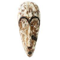 """Fang, """"Máscara Ngil"""", Gabão, século XX, madeira, vestígios de pigmento natural branco, 21x50x12cm"""