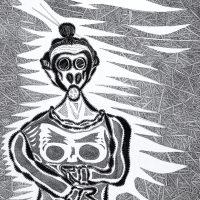 """""""Asfixia"""", 2019, artpen sobre papel, 29,7x21cm"""