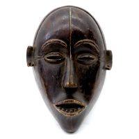 """Lovale, """"Máscara"""", Angola, século XX, madeira, 20x27x11cm"""