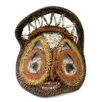 "Abelam, ""Máscara Yam"", Papua Nova Guiné, século XX, fibra vegetal, pigmentos naturais, 15x18x7cm [INDISPONÍVEL / UNAVAILABLE]"