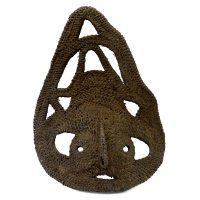 """Abelam, """"Máscara Yam"""", Papua Nova Guiné, século XX, fibra vegetal, 18x25x7cm [INDISPONÍVEL / UNAVAILABLE]"""