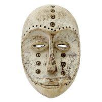 """""""Máscara Ritual"""", Lega, R.D. Congo, século XX, madeira, pigmento natural, 17x29x10cm"""