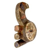 "Afikpo, Igbo, ""Máscara Yam Knife"", Nigéria, século XX, madeira, pigmentos, 18x40x21cm [INDISPONÍVEL / UNAVAILABLE]"