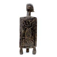 """Dogon, """"Armário Medicinal"""", Mali, século XX, madeira, 11x35x9cm"""