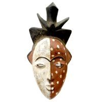 "Igbo, ""Máscara"", R.D. Congo, século XX, madeira pintada, 16x35x8cm [INDISPONÍVEL / UNAVAILABLE]"