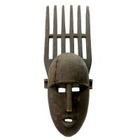 """Bamana, """"Máscara Ntomo"""", Segou, Mali, século XX, madeira, 21x58x15cm"""