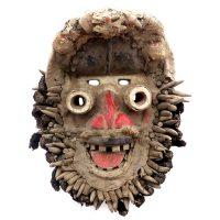 "Guere, ""Máscara We-Guere"", Costa de Marfim ou Libéria, século XX, madeira, cabelo, resíduos orgânicos, 34x41x24cm"
