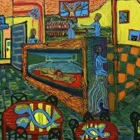 """Armenia Bar"", 2018, óleo sobre tela, 80x60cm"