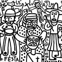 """""""Roncos e Uivos (Ana Baraça)"""", 2018, acrílico sobre aglomerado de madeira, 104x83cm"""