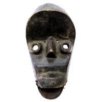 """""""Máscara Ritual"""", Kran, Libéria, século XX, madeira, corda, pregos, 16x32x10cm"""