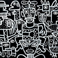 """20uínha"", 2019, acrílico sobre aglomerado de madeira, 104x83cm [INDISPONÍVEL / UNAVAILABLE]"