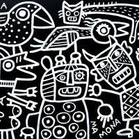 """""""Maneta, Nua, Mamona e Ruim"""", 2019, acrílico sobre aglomerado de madeira, 104x83cm [INDISPONÍVEL / UNAVAILABLE]"""