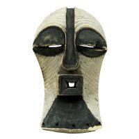 """""""Máscara Ritual Kifwebe"""", Songye , R.D. Congo, século XX, madeira, pigmento, 21x35x11cm"""