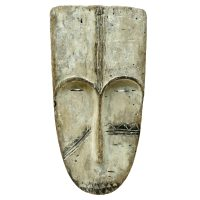 """Máscara Ritual Ngil"", Fang, Gabão, século XX, madeira, caulino, 19x38x9cm [INDISPONÍVEL / UNAVAILABLE]"