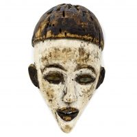 Máscara bacongo, Bakongo, séc. XX, Zaire, Madeira, 25x12x13cm [INDISPONÍVEL / UNAVAILABLE]