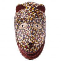 Máscara Sogobo, Bamana, séc. XX, Mali, Madeira, pigmentos, 20x36cm [INDISPONÍVEL / UNAVAILABLE]