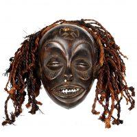 Máscara tchokwe, Tchokwe, séc. XX, Angola, Madeira, 26x24cm [INDISPONÍVEL / UNAVAILABLE]