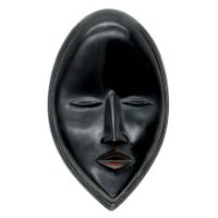 """Face Mask"", Dan, Costa do Marfim, século XX, madeira, 14x22x5cm"