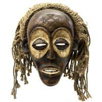 """Máscara Ritual Mwana Pwo"", Chokwe, Angola ou R.D. Congo, século XX, madeira, pigmento, corda, 24x26x21 [INDISPONÍVEL/UNAVAILABLE]"
