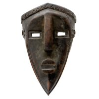 """""""Máscara Ritual Mvondo"""", Lualwa, R.D. Congo ou Angola, século XX, madeira, 19x29x7cm"""