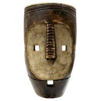 """""""Máscara Ritual"""", Ngbaka, R.D. Congo, século XX, madeira, pigmentos, 18x30x8cm"""