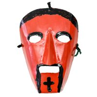 """""""Máscara de Rituais de Inverno"""", Filipe Costa, Podence, Macedo de Cavaleiros, 2020, metal pintado, 15x21x10cm [INDISPONÍVEL / UNAVAILABLE]"""